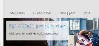 ISO 45001:2018 ir publicēts!